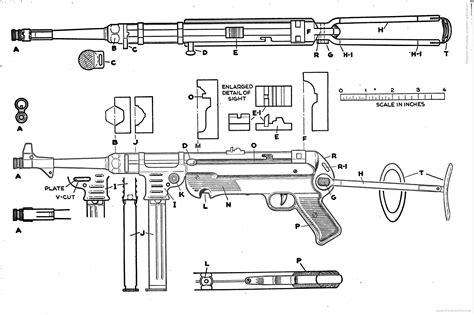 design a blueprint the blueprintscom blueprints gt weapons machine guns mp40 draw