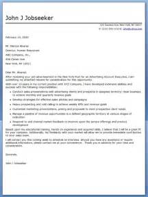 Sle Executive Cover Letters by Advertising Account Executive Cover Letter Sle Resume