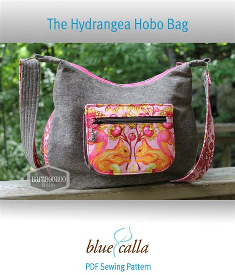 sewing pattern hobo bag the hydrangea hobo bag pdf sewing pattern