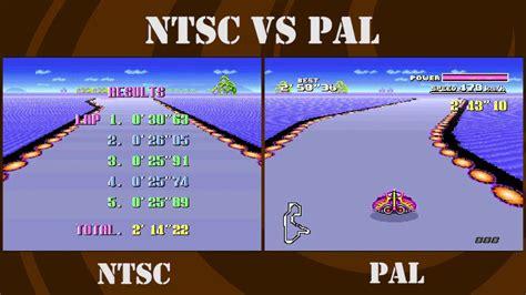 format video pal vs ntsc ntsc vs pal f zero snes big blue youtube