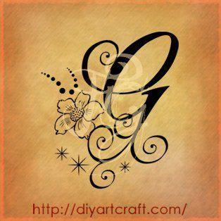 tatuaggi lettere g lettera g anemone tatuaggi