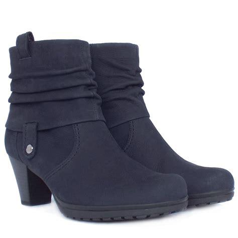gabor boots brignall navy nubuck ankle