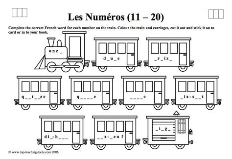 french numbers 1 20 printable worksheets spanish numbers 1 20 worksheet worksheets for all