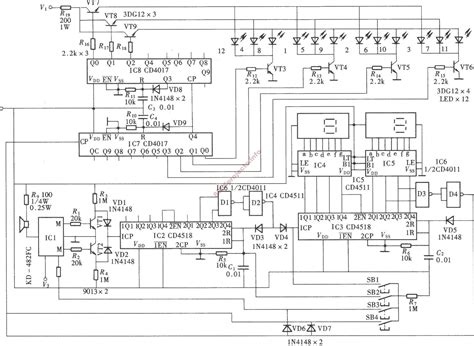 digital electronic circuits free electronic circuits 8085 projects 187 archive
