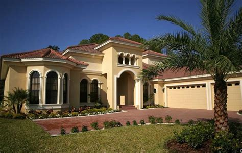 Mediterranean Style Homes With Garage Design Ideas
