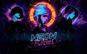 Carpenter Art Garden - neon bitches synthwave music cyberpunk hd wallpaper