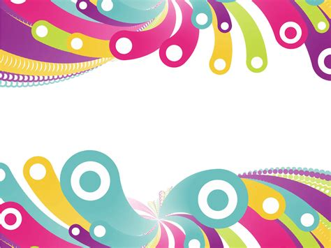 colorful circles backgrounds presnetation ppt