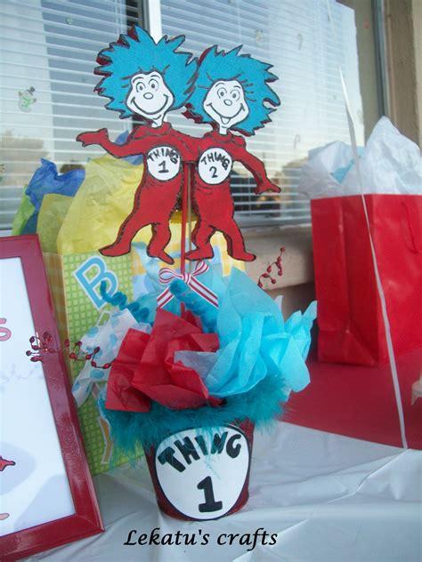 Dr Seuss Baby Shower Centerpiece Ideas by Thing 1 And Thing 2 Baby Shower Centerpiece Ideas