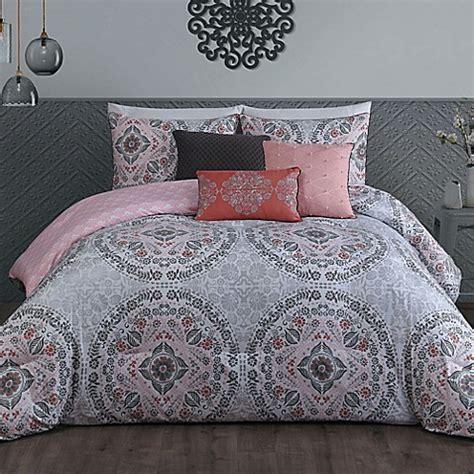 steve madden bedding steve madden positano 6 piece comforter set in pink bed