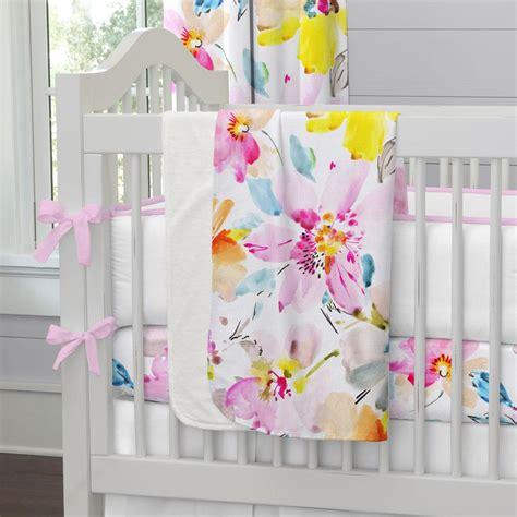 floral nursery bedding watercolor floral crib bedding carousel designs