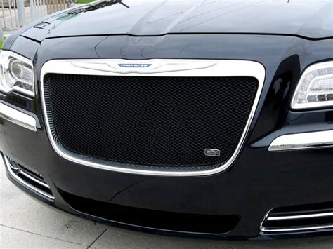 Black Chrysler 300 Grill by Grillcraft Mx Series Mesh Grille Chrysler 300 2011