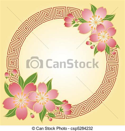 new year flower painting vector illustration of new year cherry flower