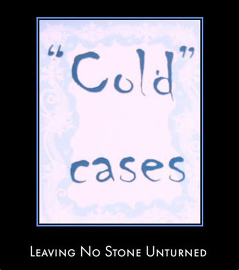 Leads And Cold Cases forensic science