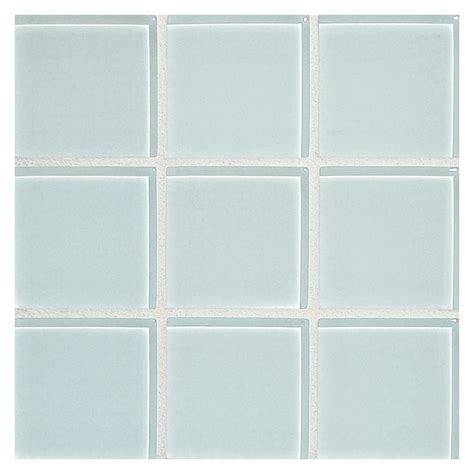 Glass expressions mosaic tile 2 quot square pale blue clear