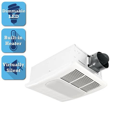 nutone exhaust fan with led light nutone invent series 110 cfm ceiling exhaust bath fan with