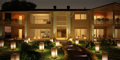lighted houses lantern lighted house archiviz