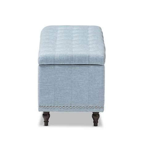 blue fabric ottoman baxton studio kaylee modern classic light blue fabric