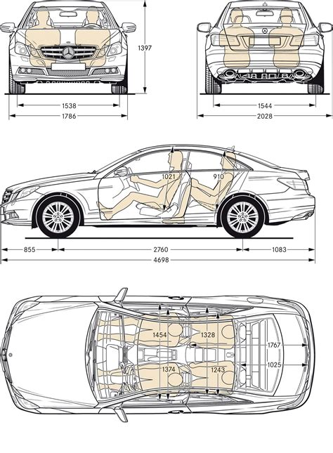 Mercedes E350 Dimensions Mb Blueprints And Chassis Dimensions Drawings