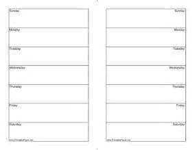 Two Week Calendar Template Free by Printable Two Week Calendar Half Page