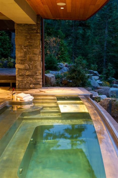 Backyard Retreats Pools And Spas Breathtaking Indoor And Outdoor Spa Design Ideas By