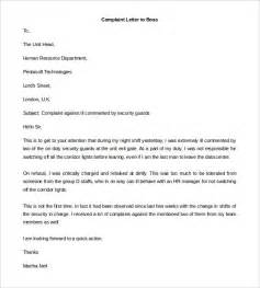 Complaint Letter Employee To Employer Formal Complaint Letter To Employer Cover Letter Sle 2017