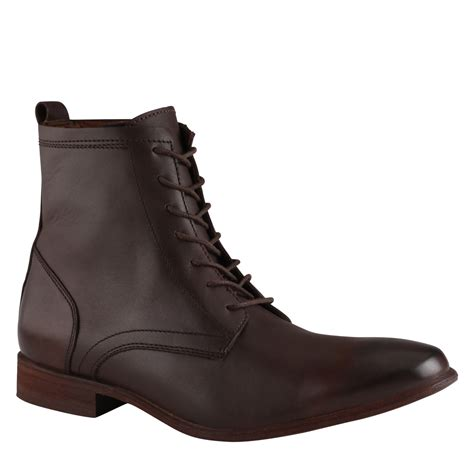aldo brown boots lyst aldo boots in brown for