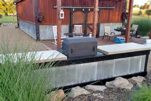 Cheap Barn Doors Creating An Inexpensive Outdoor Kitchen With Concrete