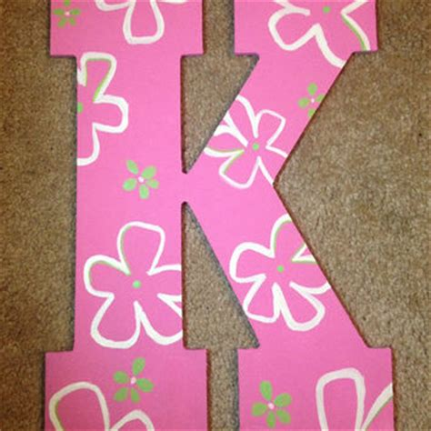 wooden letter k decor best wooden painted letters for decor products on wanelo