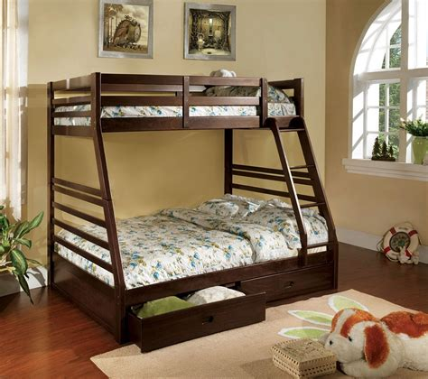 solid wood bunk beds twin over full twin over full bunk bed solid wood dark walnut finish 2 drawers