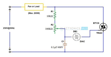 capacitor based fan regulator circuit simple fan regulator circuit using triac and diac