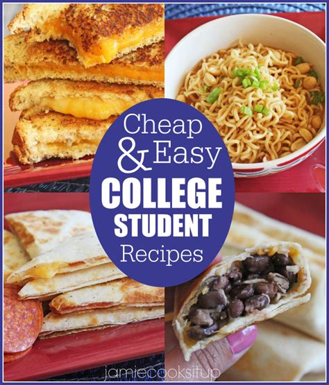 cheap and easy college student recipes