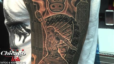 chicago bulls and windy city tattoo by omar youtube