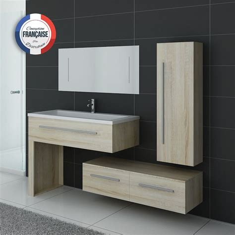 meuble salle de bain simple vasque scandinave dis9251sc