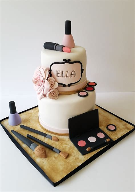 makeup themed birthday cake makeup themed cake for a gorgeous 9 year olds per party