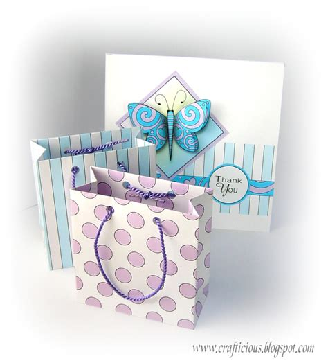 crafticious small gift bag template tutorial
