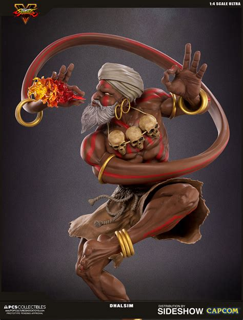 Exlusive Headl Fighter Batok dhalsim fighter statue by pop culture shock collector verse