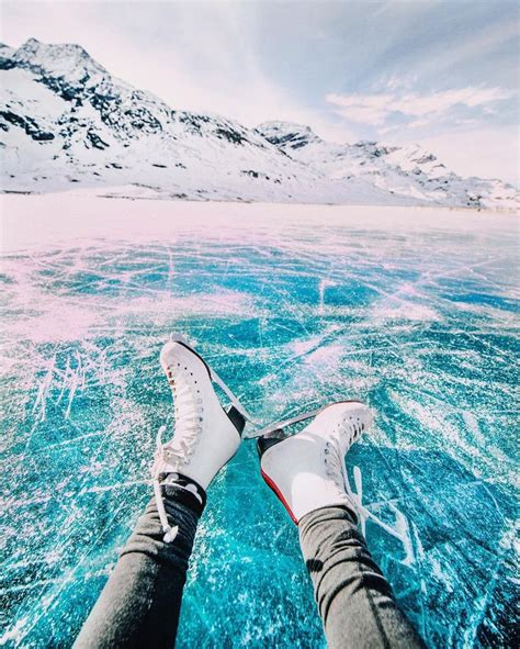 Travel Jumbo Frozen Trj skating on a frozen lake in switzerland yesterday wanderlust