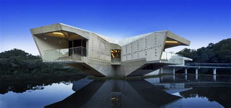 futuristic homes futuristic concrete house with bridge access and eco