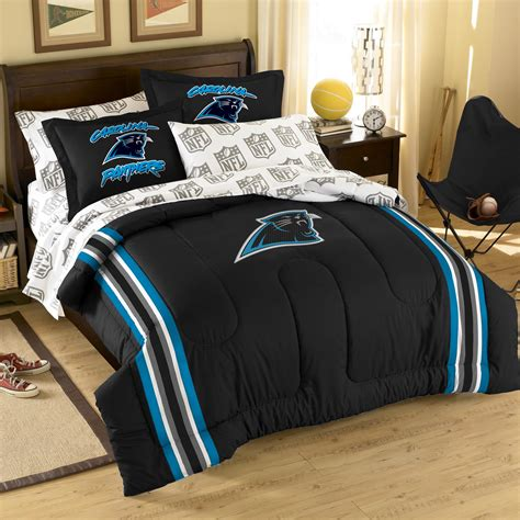 carolina panthers bedding northwest co nfl carolina panthers 7 piece full bed in a
