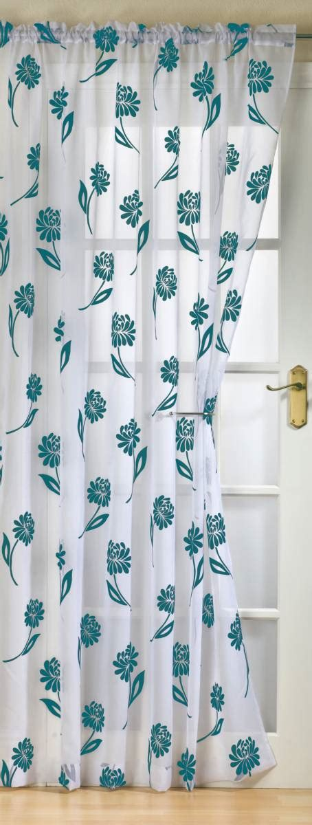 White Teal Curtains Sicily White Teal Panel 59 Inch Wide Panels Net Curtain