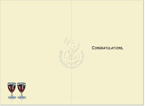 engagement ring congratulations card lustig