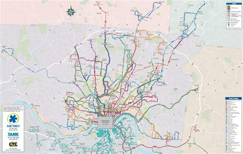 usa map cincinnati greater cincinnati transport map