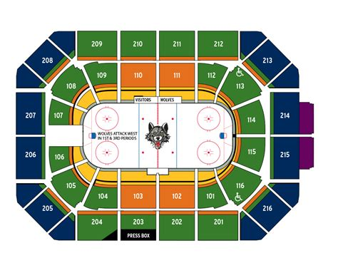 Chicago Wolves Giveaways - seating chart pricing chicago allstate arena chicago wolves