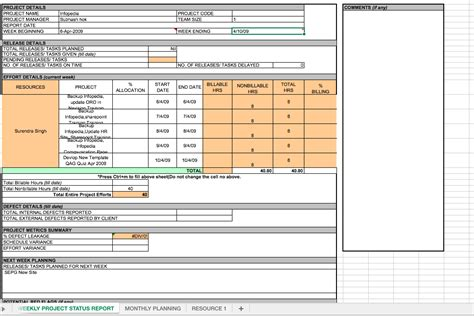 Weekly Project Status Report Template Excel Top Form Templates Free Templates Download Project Update Template Excel
