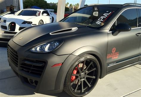 porsche cayenne matte white whole hog arrives at sema 2011 whole hog technologies
