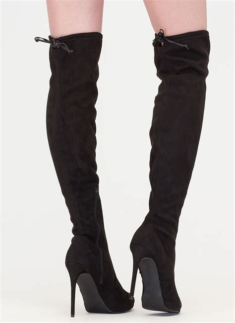walking in thigh high boots made for walking thigh high boots taupe black gojane