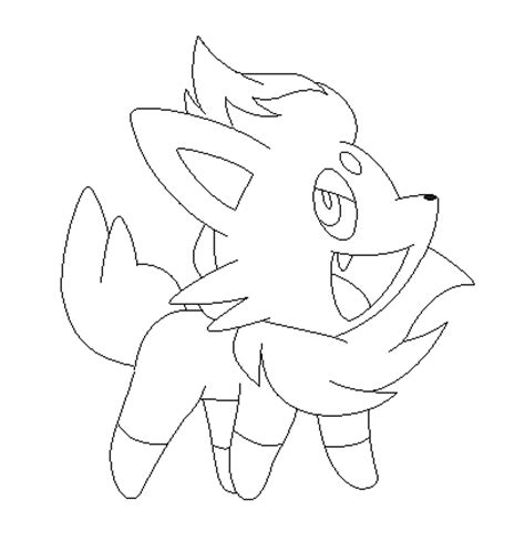 pokemon coloring pages of zorua zorua lineart 5 by michy123 on deviantart