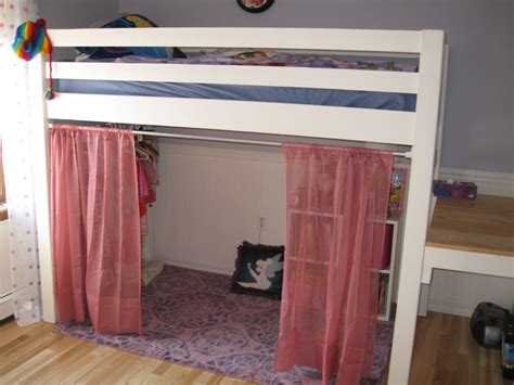 loft bed curtains ana white