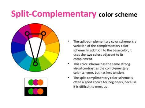 split complementary color scheme color theory