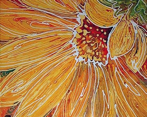 design batik artis batik sunflower by marcia baldwin from abstracts